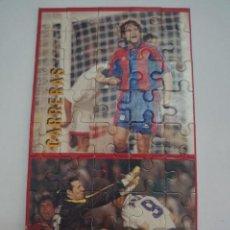 Coleccionismo deportivo: PUZZLE DE CARRERAS Y ANGOY DEL F.C.BARCELONA SUPER BARÇA 96 DEL MUNDO DEPORTIVO HAZTE CON EL. Lote 277589548