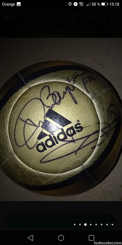 Coleccionismo deportivo: Balón adidas firmado galácticos Real madrid años 90, Zidane, Roberto Carlos, Ronaldo, Beckham, etc. - Foto 3 - 278479103