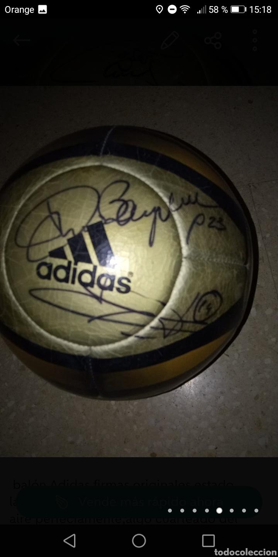 Coleccionismo deportivo: Balón adidas firmado galácticos Real madrid años 90, Zidane, Roberto Carlos, Ronaldo, Beckham, etc. - Foto 4 - 278479103