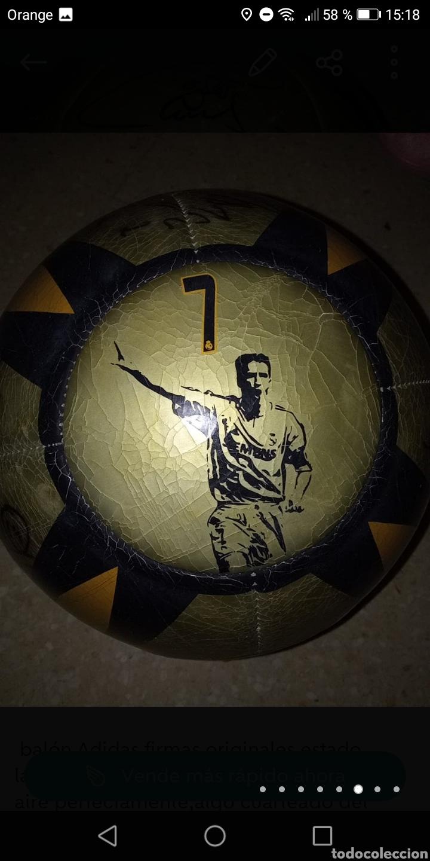 Coleccionismo deportivo: Balón adidas firmado galácticos Real madrid años 90, Zidane, Roberto Carlos, Ronaldo, Beckham, etc. - Foto 6 - 278479103