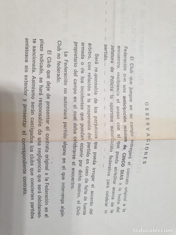Coleccionismo deportivo: CONTRATO DE PARTIDO AMISTOSO NASTIC-BARCELONA - Foto 2 - 278491018