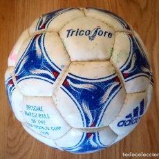 Collezionismo sportivo: BALON ADIDAS TRICOLORE MUNDIAL FRANCIA 1998 OFFICAL MATCH BALL OF THE FIFA WORLD CUP. Lote 287192118