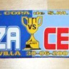 Coleccionismo deportivo: BUFANDA CONMEMORATIVA CELTA DE VIGO - ZARAGOZA FINAL COPA DE ESPAÑA 2001. Lote 287395988