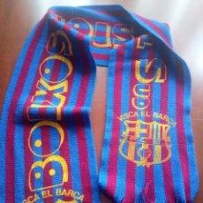 Collezionismo sportivo: BOIXOS NOIS VERY VINTAGE SCARF FOOTBALL ULTRA ULTRAS FC BARCELONA BUFANDA FUTBOL. Lote 288637993