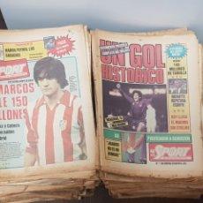 Coleccionismo deportivo: DIARIO SPORT ESPECTACULAR LOTE DE 270 PERIÓDICOS AÑOS 80 PRINCIPIOS PORTADAS ESPECTACULARES. Lote 295845818