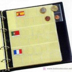 Material numismático: HOJAS PARA COLECCIONAR MONEDAS DE EURO - PARDO. Lote 59749752