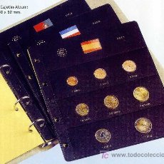 Material numismático: HOJAS PARA COLECCIONAR MONEDAS DE EUROS - PARDO. Lote 31457536
