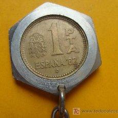 Matériel numismatique: LLAVERO NUMISMÁTICO. MONEDA ESPAÑOLA. 1980. 1 PESETA. JUAN CARLOS I. . Lote 12644804