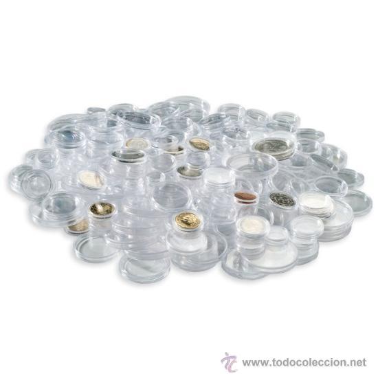 LOTE DE 100 CAPSULAS PARA MONEDAS (Numismática - Material Numismático)