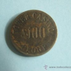 Material numismático: FICHA TOWER CASINO GROUP. 100 LIBRAS.. Lote 30801288