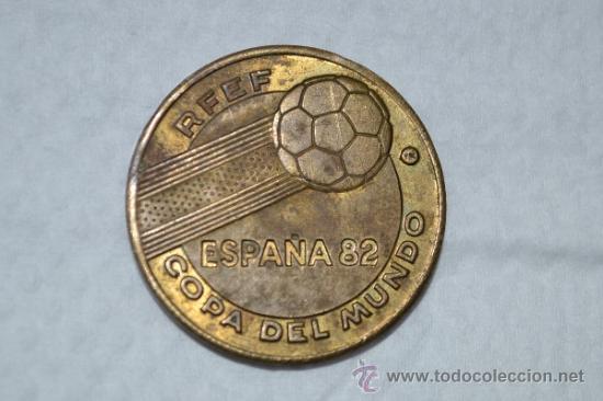 MONEDA DEL MUNDIAL DEL 82-ALEMANIA CAMPEÓN DEL MUNDO. (Numismática - Material Numismático)