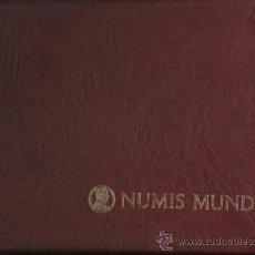 Material numismático: MAGNIFICO ESTUCHE NUMIS MUNDI CON 5 BANDEJAS. PARA 205 MONEDAS SIMIL PIEL VER FOTOS. Lote 36991144