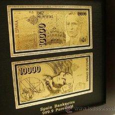 Material numismático: BILLETE DE 10.000 PESETAS DE ORO 24 KILATES. Lote 37539744