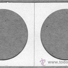 Material numismático: EDUNAVA LOTE 10 CARTONES PARA MONEDAS DE 4 CÉNTIMETROS (40 MM.). Lote 95809223