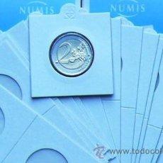 Material numismático: 100 CARTONES AUTOADHESIVOS LEUCHTTURM. Lote 243293190