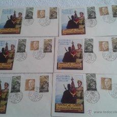 Materiale numismatico: 6 SOBRES FILATELICOS HOMENAJE AL EJERCITO. XX ANIVERSARIO DEL ALZAMIENTO. MELILLA 1956. Lote 42823414