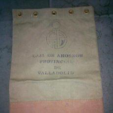 Material numismático: ANTIGUA BOLSA SACA DINERO CAJA DE AHORROS PROVINCIAL DE VALLADOLID. Lote 163492748