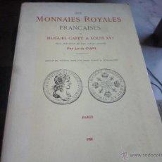 Material numismático: CATALOGO MONEDAS ROYALES FRANCESAS EDICION 1926, EN FRANCES. Lote 47921142