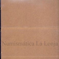 Material numismático: PACK 10 HOJAS PARDO PARA BILLETES,ETC... 4 DEPARTAMENTOS MOD. 101400. Lote 277685183