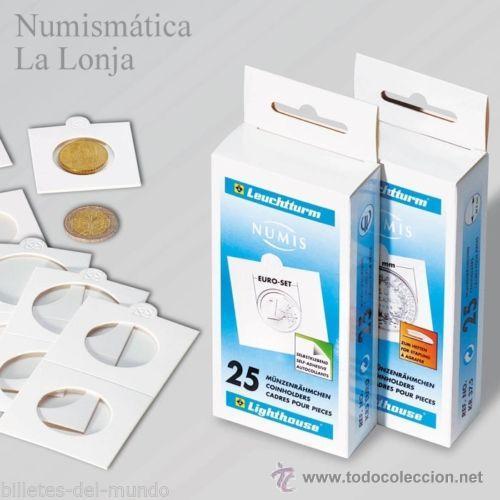 LEUCHTTURM - CARTONES PARA MONEDAS 27.50 MM AUTOADHESIVOS - 25 UNIDADES (Numismática - Material Numismático)