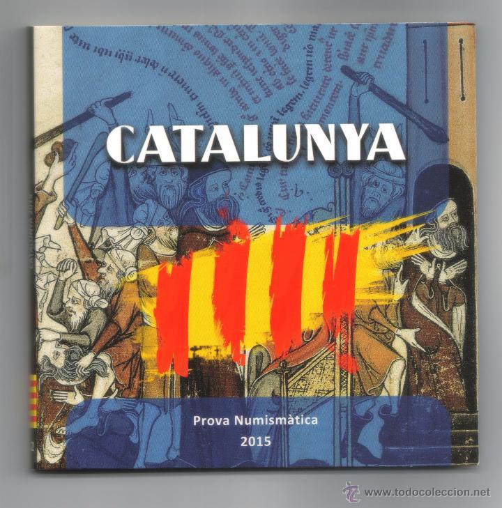 CARTERA DE CATALUÑA 2015 PRUEBAS MONEDAS EUROS (Numismática - Material Numismático)