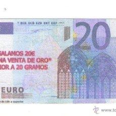 Material numismático: BILLETE HUMOR/PROPAGANDA **DOFOID ASSOCIATS,S.L. VALE DESCUENTO 20 € **. Lote 54583781