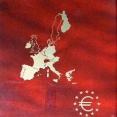 Material numismático: PARDO ÁLBUM MONEDA EURO IMITACION PIEL MARRON CON CAJA. Lote 56558497