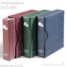Matériel numismatique: LEUCHTTURM - ÁLBUM MONEDAS NUMIS CON HOJAS REF. 338788 VERDE. Lote 56569149