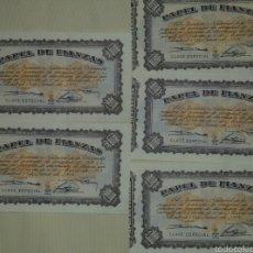 Material numismático: LOTE PAPELES DE FIANZA 1954. Lote 61034695