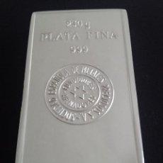 Material numismático: LINGOTE SEMPSA 250GR PLATA PURA. Lote 108938082