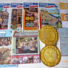 Material numismático: REVISTAS DE NUMISMATICA Y FILATELIA ALGUNOS SOBRES LO DE LA FOTO.. Lote 72049247