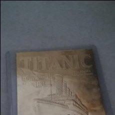 Material numismático: TARJETA ORO TITANIC.. Lote 79538353