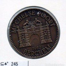 Material numismático: N° 245 - LINDA MEDAHLA DE 100 SLIKERS 1982 BERCHEM. Lote 87420356