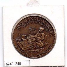 Material numismático: N° 249 - LINDA MEDAHLA DE 100 MANDENMAKERS. Lote 87421516