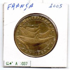 Material numismático: N° 037 - FRANCA- LINDA MOEDA DE PARIS 2005 MARINELAND ANTIBES. Lote 87424012