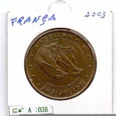 Material numismático: N° 038 - FRANCA- LINDA MOEDA DE PARIS 2003 MARINELAND ANTIBES. Lote 87424124