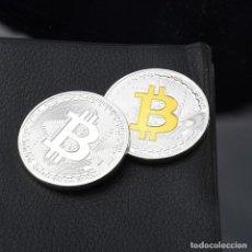 Material numismático: LOTE 2 MONEDAS BITCOIN . Lote 88761720