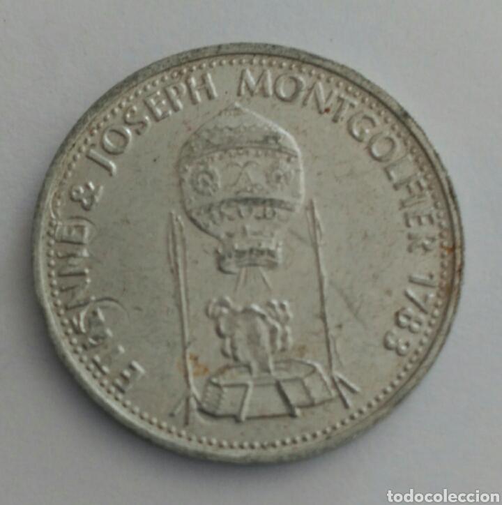 Material numismático: FICHA TOKEN DE LA SHELL ETIENNE JOSEP MONTGOLFIER - Foto 2 - 88786338