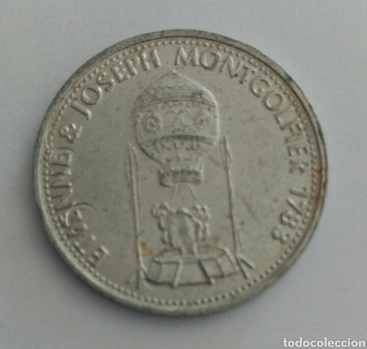 Material numismático: FICHA TOKEN DE LA SHELL ETIENNE JOSEP MONTGOLFIER - Foto 4 - 88786338