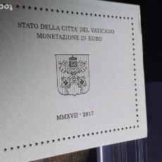 Material numismático: VATICANO 2017 CARTERA OFICIAL (VACIA). Lote 89765992