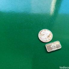 Material numismático: CHAPA Y MONEDA CON 2 GRAMOS DE PLATA. Lote 91651004