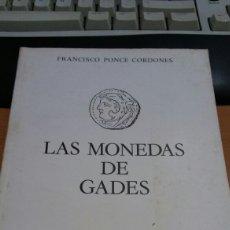 Material numismático: LIBRO MONEDAS DE GADES. Lote 94274517