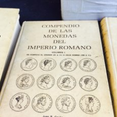 Material numismático: COMPENDIO DE LA MONEDA ROMANA 4 VOLÚMENES. Lote 97314150