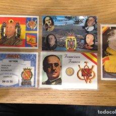 Material numismático: LOTE FRANCISCO FRANCO - 5 CARNETS PLASTIFICADOS CON PEQUEÑA MONEDA. Lote 99945447