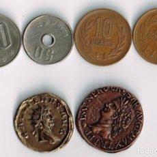 Material numismático: 2 MONEDAS ITALIANAS (NERON-GALIENO) + 10 MONEDAS CHINAS + 2 INGLESAS + 9 AMERICANAS = VER FOTOS. Lote 101228419