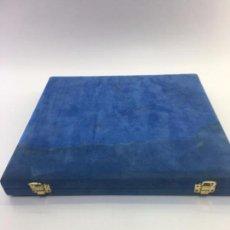 Material numismático: CAJA ESTUCHE PARA 15 MONEDAS, FORRADA EN PIEL, 30,30 X 29,20 X 3 CM. . Lote 102051563