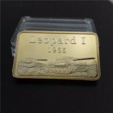Material numismático: LINGOTE BAÑADO EN ORO 24K ALEMANIA LEOPARD I 1965 PANZER EDICION LIMITADA DIFICIL DE CONSEGUIR. Lote 214666942