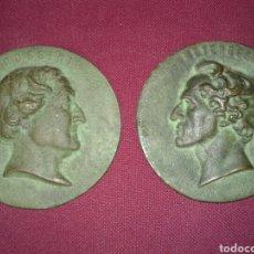 Material numismático: ANTIGUAS MONEDAS EN BRONCE CON ROSTROS ROMANOS. Lote 104878440