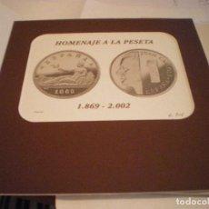 Material numismático: HOMENAJE A LA PESETA 1869-2002 REAL CASA DE LA MONEDA DE MADRID NUEVA. Lote 105237231