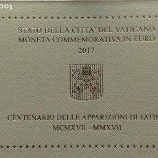 Material numismático: CARTERA 2 EUROS VATICANO 2017 CENTENARIO APARICION FATIMA. Lote 107803311